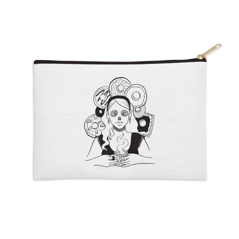 Death 'n' Donuts Accessories Zip Pouch by Love for Ink Artist Shop