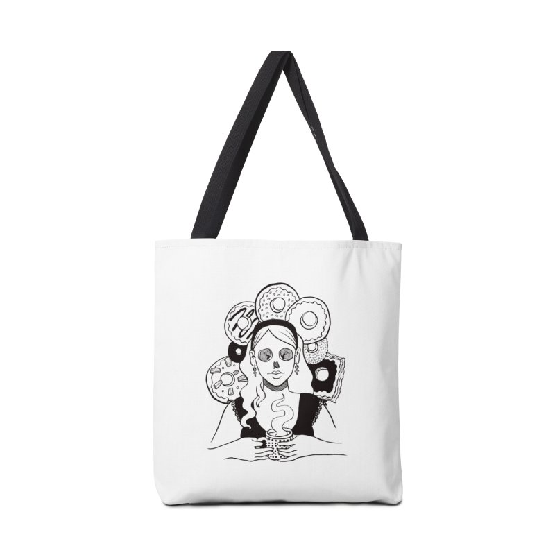 Death 'n' Donuts Accessories Tote Bag Bag by Melisa Des Rosiers Artist Shop