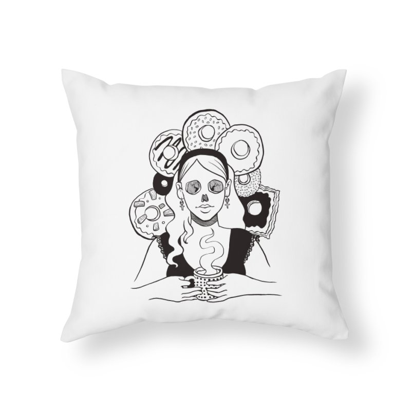 Death 'n' Donuts Home Throw Pillow by Love for Ink Artist Shop