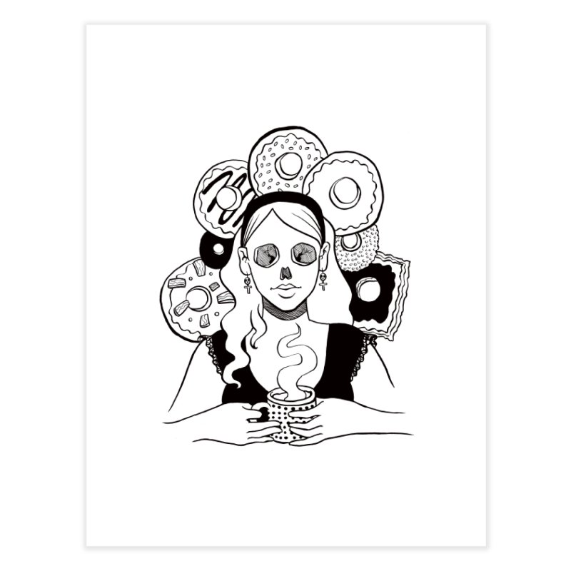 Death 'n' Donuts Home Fine Art Print by Love for Ink Artist Shop