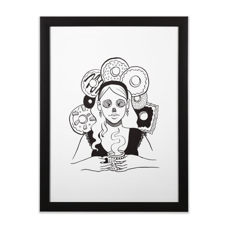 Death 'n' Donuts Home Framed Fine Art Print by Love for Ink Artist Shop