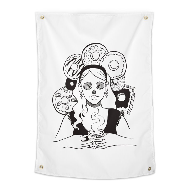Death 'n' Donuts Home Tapestry by Love for Ink Artist Shop