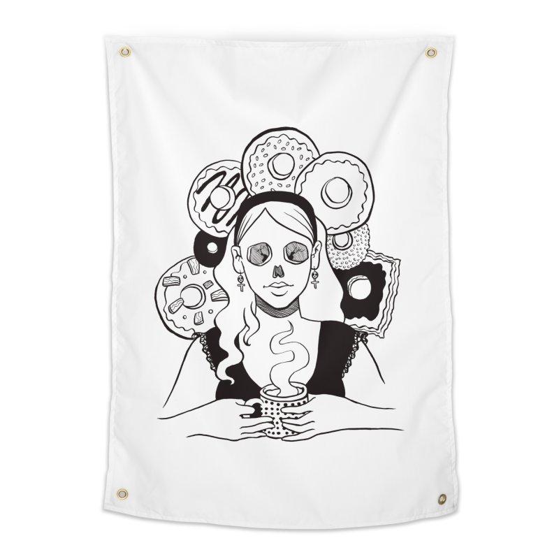 Death 'n' Donuts Home Tapestry by Melisa Des Rosiers Artist Shop