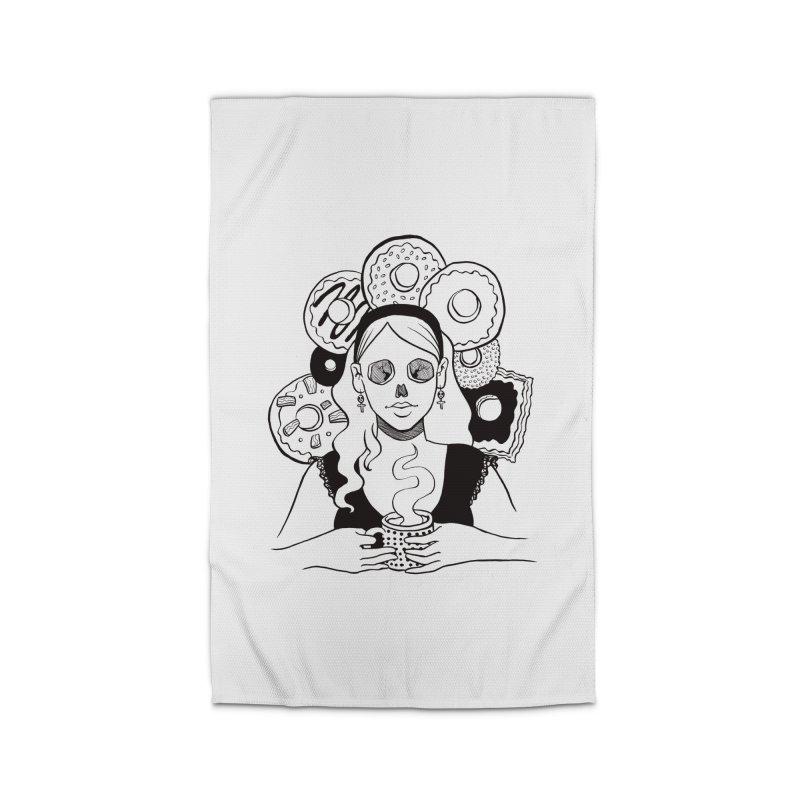 Death 'n' Donuts Home Rug by Melisa Des Rosiers Artist Shop