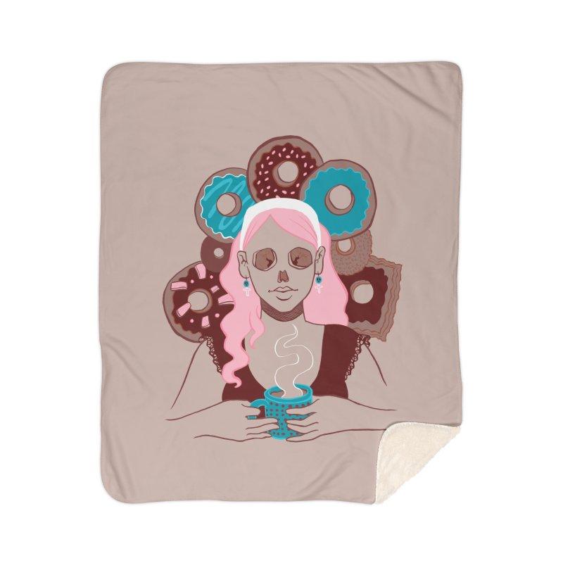Death 'n' Donuts Color Home Sherpa Blanket Blanket by Melisa Des Rosiers Artist Shop