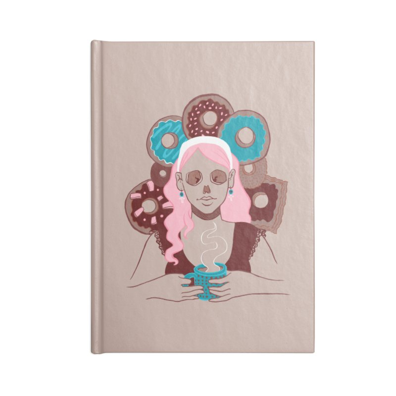 Death 'n' Donuts Color Accessories Lined Journal Notebook by Melisa Des Rosiers Artist Shop