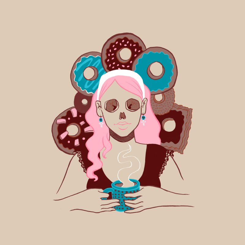 Death 'n' Donuts Color   by Love for Ink Artist Shop
