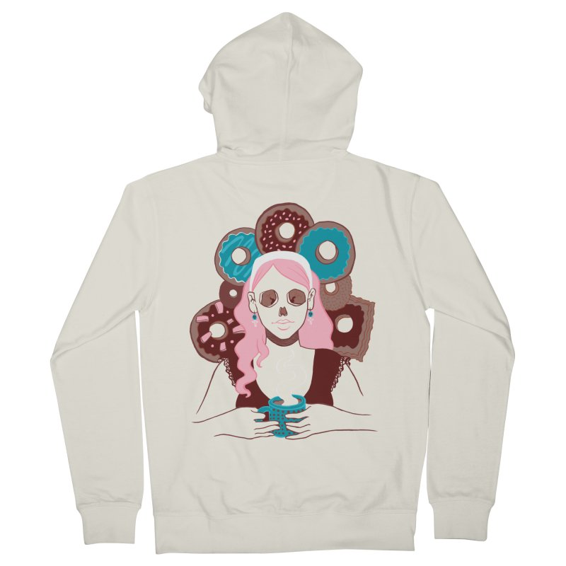 Death 'n' Donuts Color Men's Zip-Up Hoody by Love for Ink Artist Shop