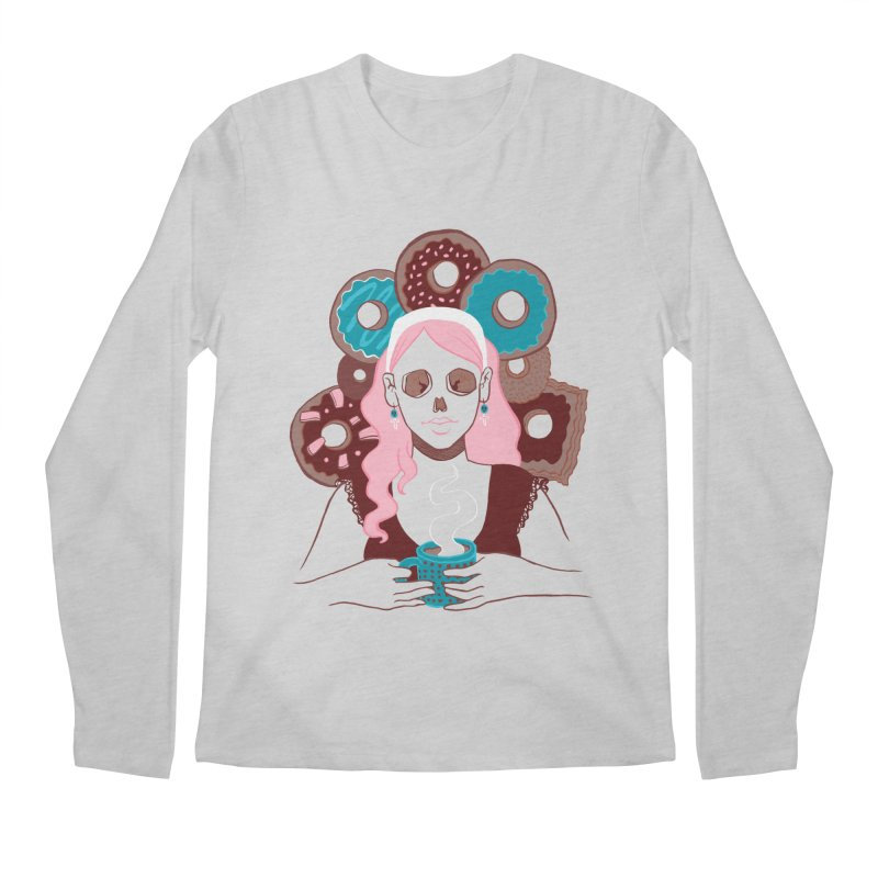 Death 'n' Donuts Color Men's Longsleeve T-Shirt by Love for Ink Artist Shop