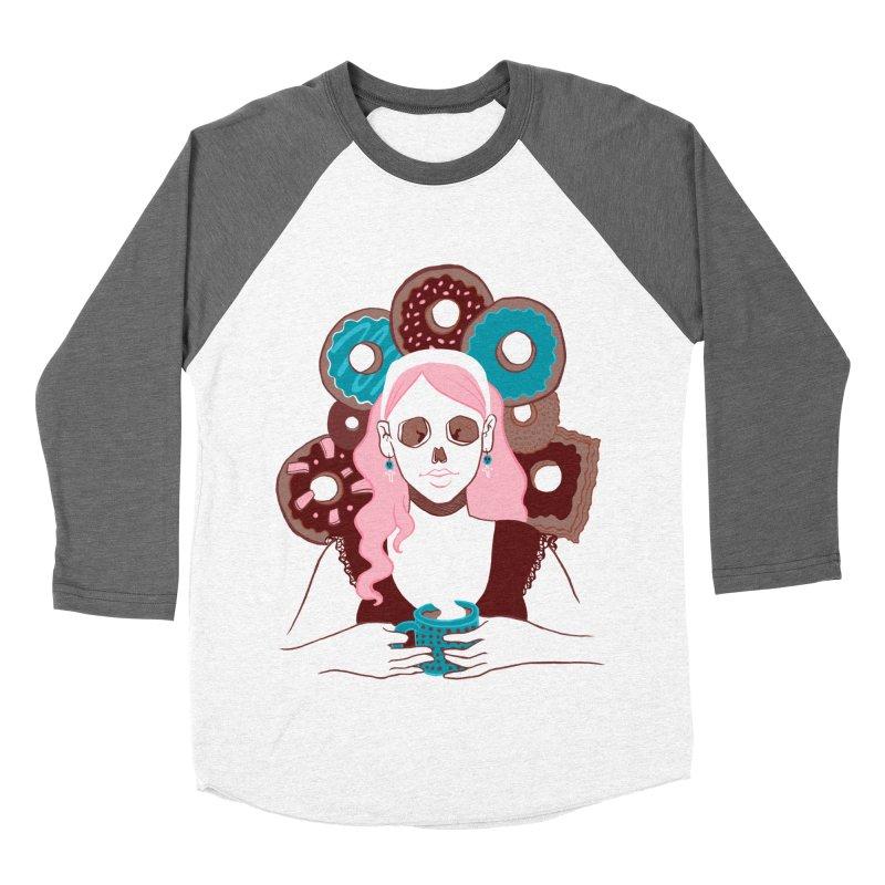 Death 'n' Donuts Color Men's Baseball Triblend T-Shirt by Love for Ink Artist Shop