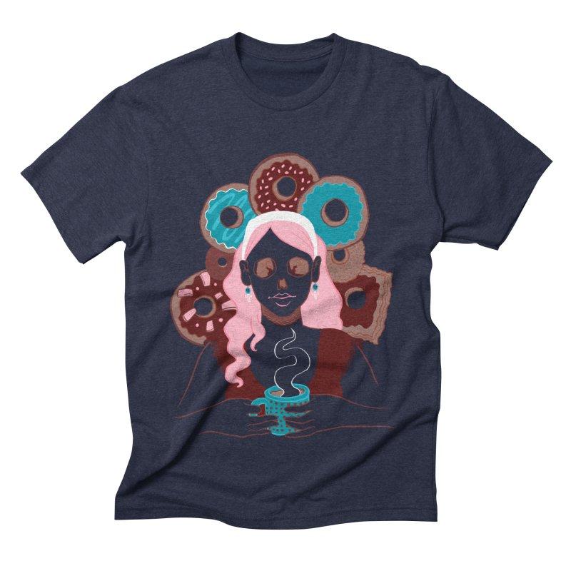 Death 'n' Donuts Color Men's Triblend T-shirt by Love for Ink Artist Shop