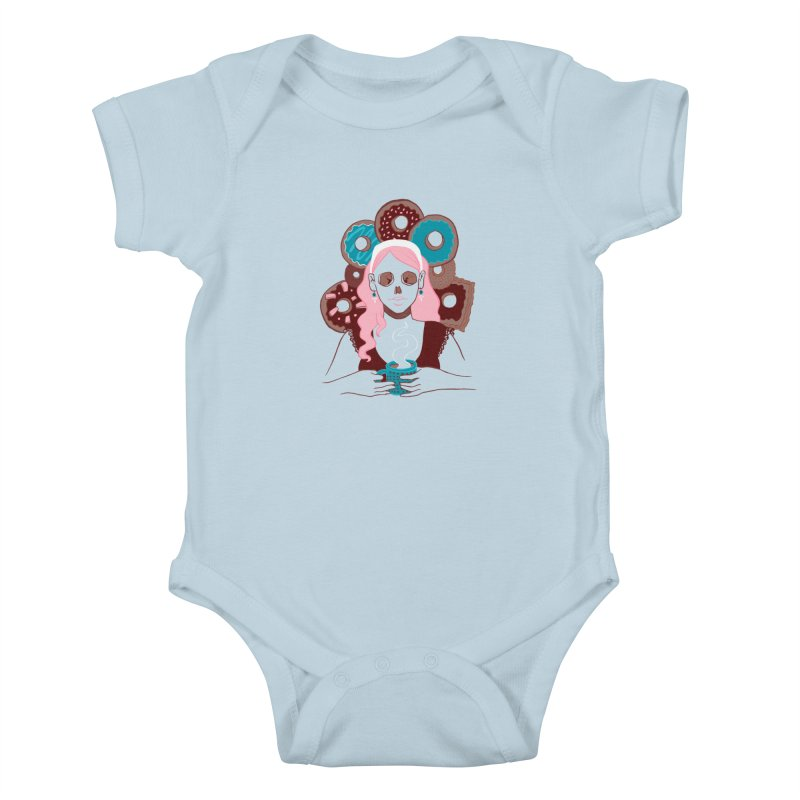 Death 'n' Donuts Color Kids Baby Bodysuit by Love for Ink Artist Shop