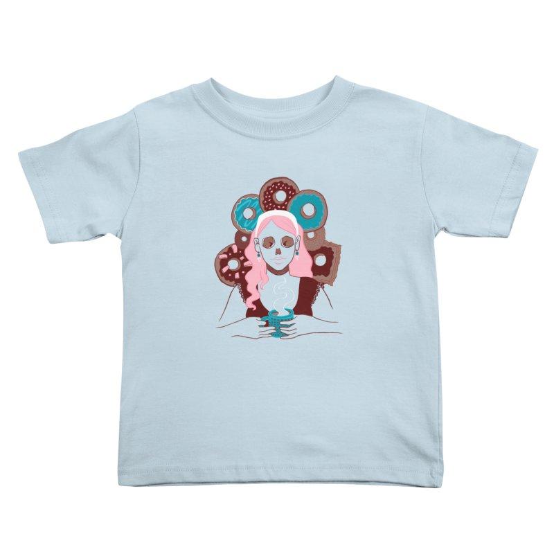 Death 'n' Donuts Color Kids Toddler T-Shirt by Love for Ink Artist Shop