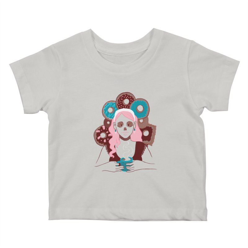 Death 'n' Donuts Color Kids Baby T-Shirt by Love for Ink Artist Shop