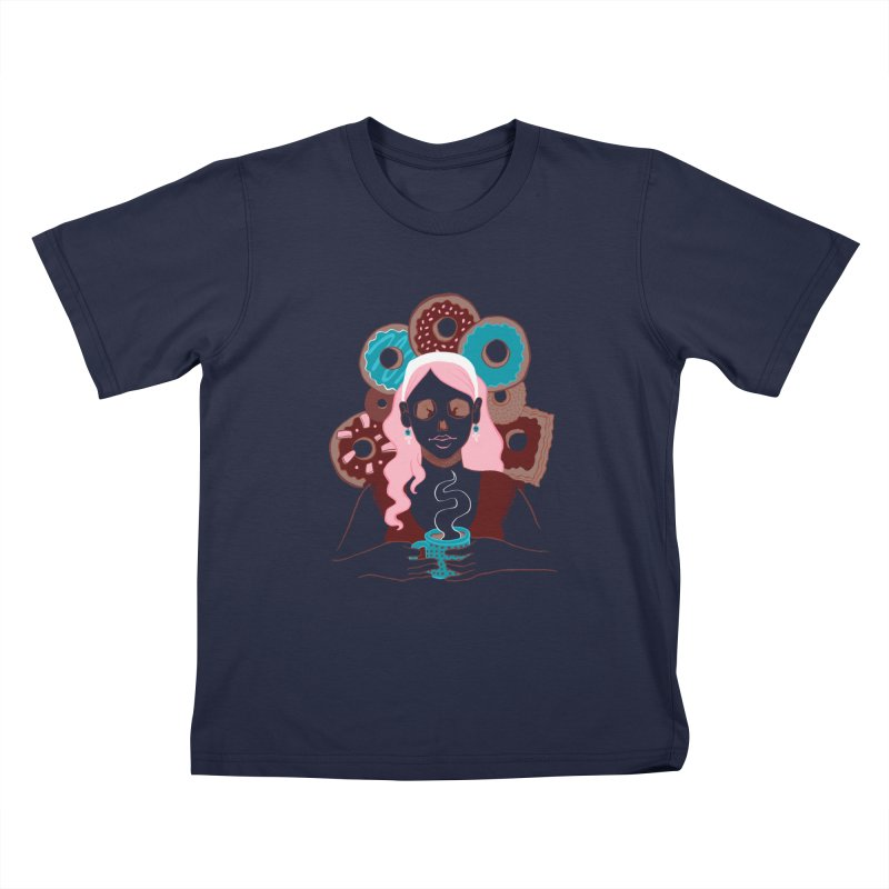 Death 'n' Donuts Color Kids T-shirt by Love for Ink Artist Shop