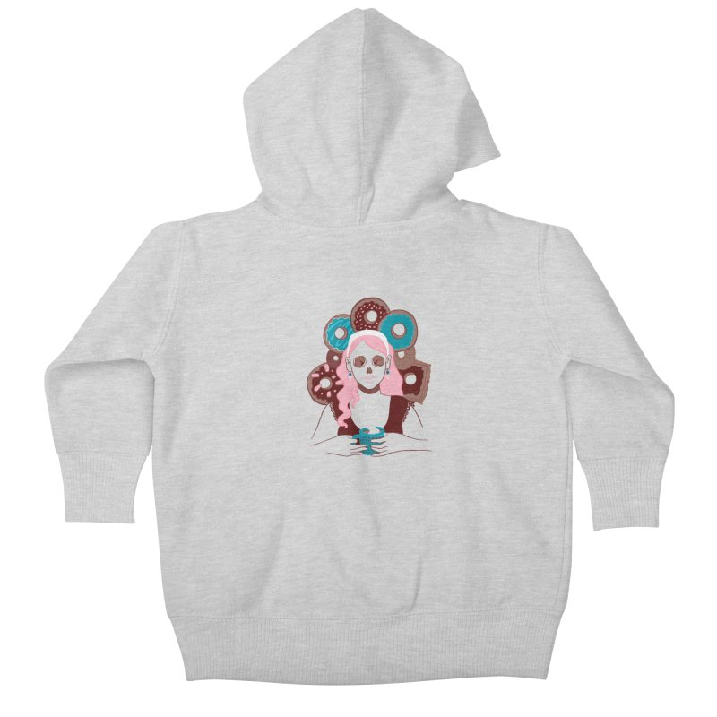 Death 'n' Donuts Color Kids Baby Zip-Up Hoody by Love for Ink Artist Shop