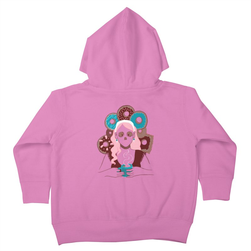 Death 'n' Donuts Color Kids Toddler Zip-Up Hoody by Love for Ink Artist Shop