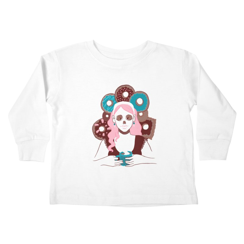 Death 'n' Donuts Color Kids Toddler Longsleeve T-Shirt by Love for Ink Artist Shop