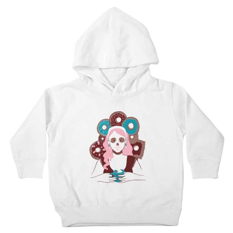 Death 'n' Donuts Color Kids Toddler Pullover Hoody by Love for Ink Artist Shop
