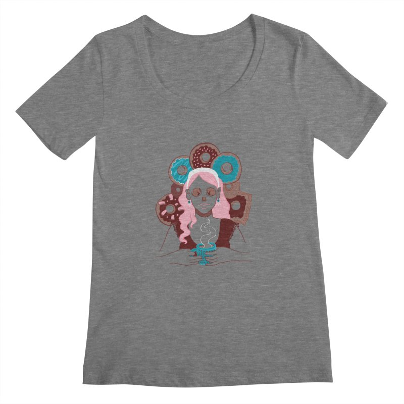 Death 'n' Donuts Color Women's Scoopneck by Love for Ink Artist Shop