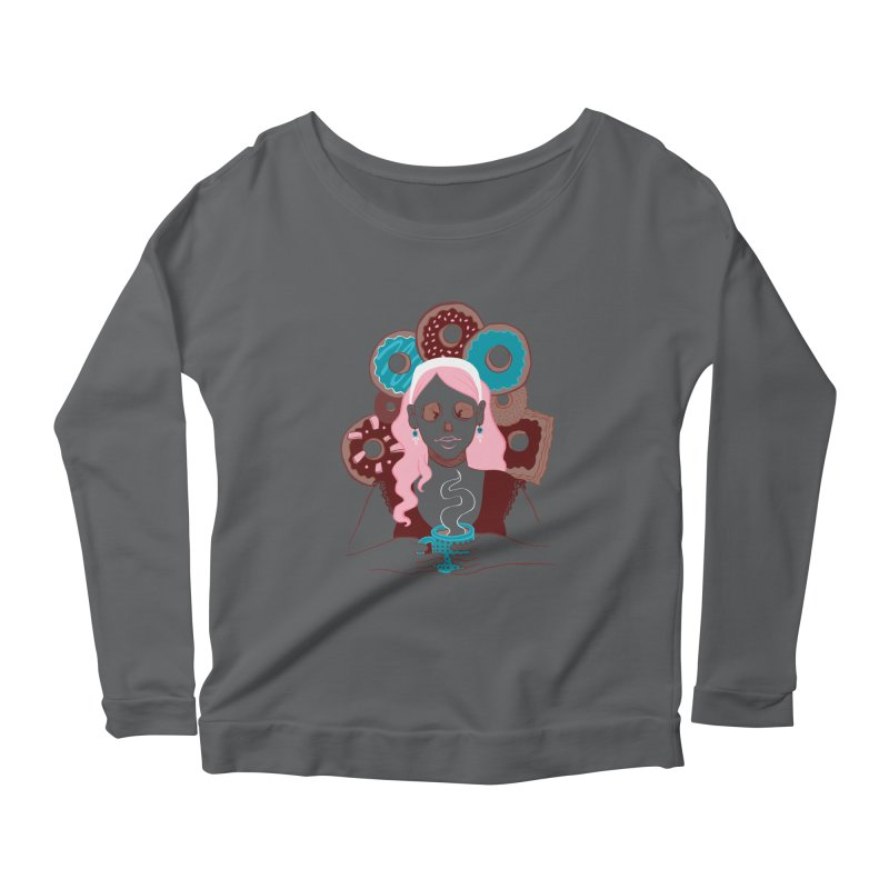 Death 'n' Donuts Color Women's Longsleeve Scoopneck  by Love for Ink Artist Shop