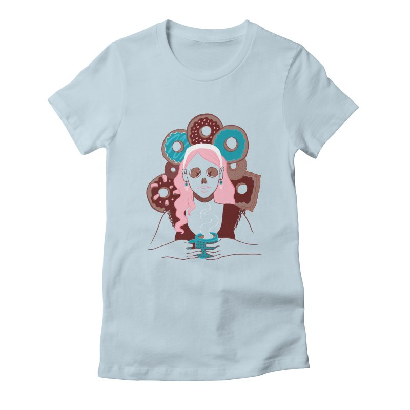 Death 'n' Donuts Color Women's Fitted T-Shirt by Love for Ink Artist Shop