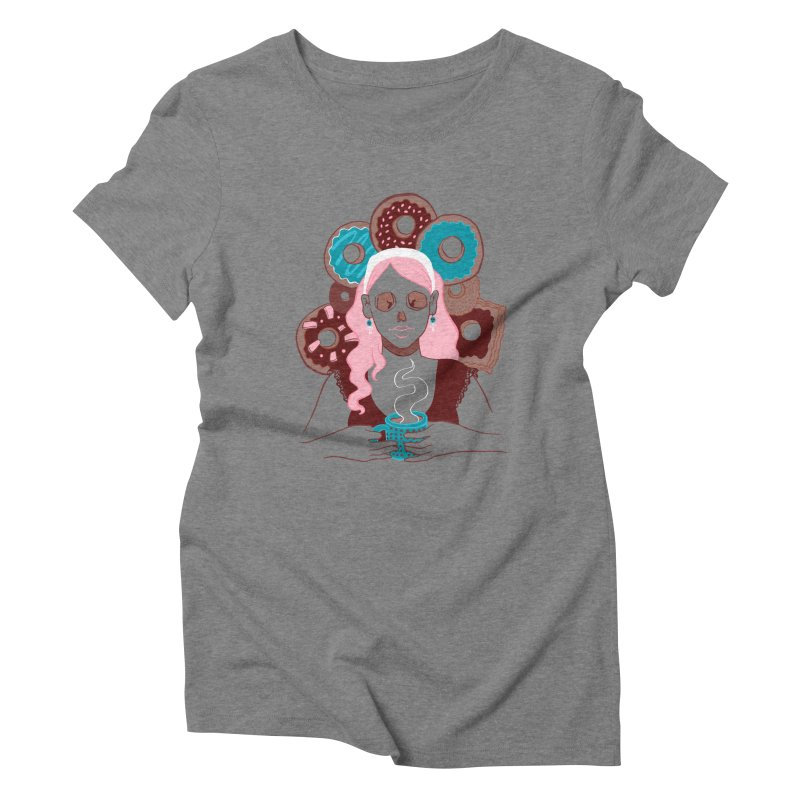 Death 'n' Donuts Color Women's Triblend T-shirt by Love for Ink Artist Shop