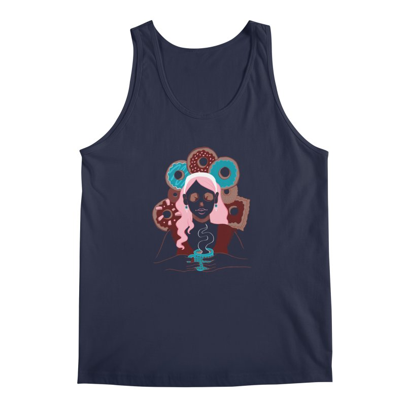 Death 'n' Donuts Color Men's Tank by Love for Ink Artist Shop