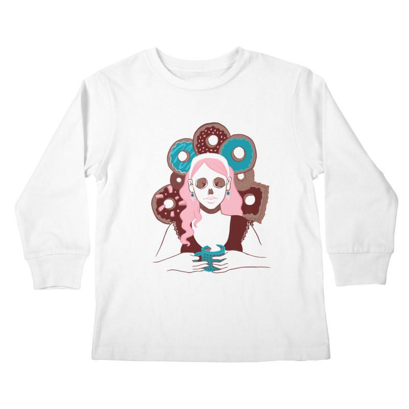 Death 'n' Donuts Color Kids Longsleeve T-Shirt by Love for Ink Artist Shop