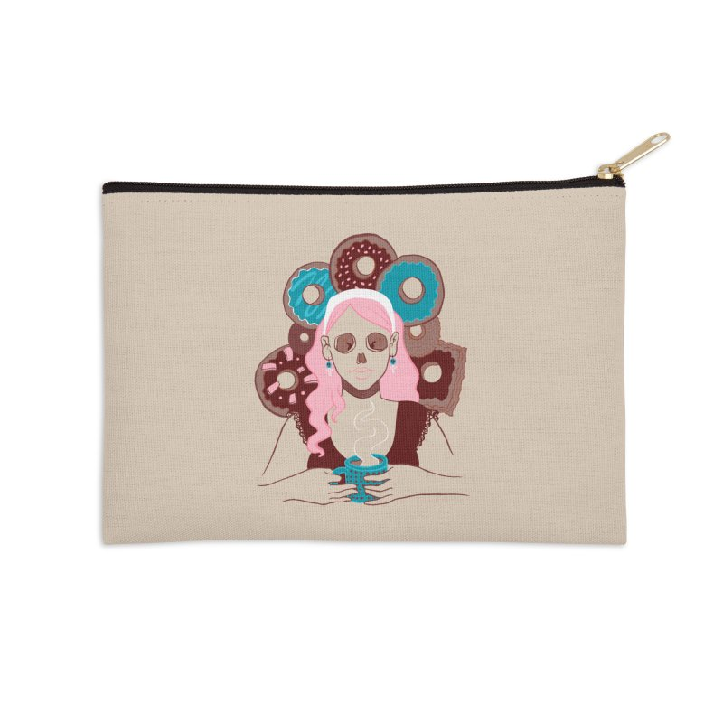 Death 'n' Donuts Color Accessories Zip Pouch by Love for Ink Artist Shop