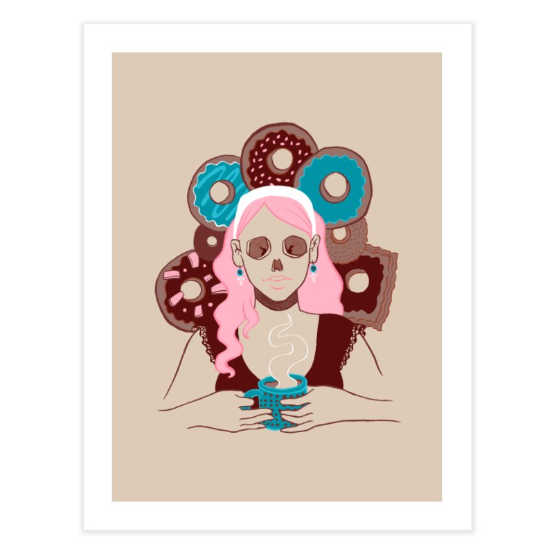 Death 'n' Donuts Color Home Fine Art Print by Love for Ink Artist Shop