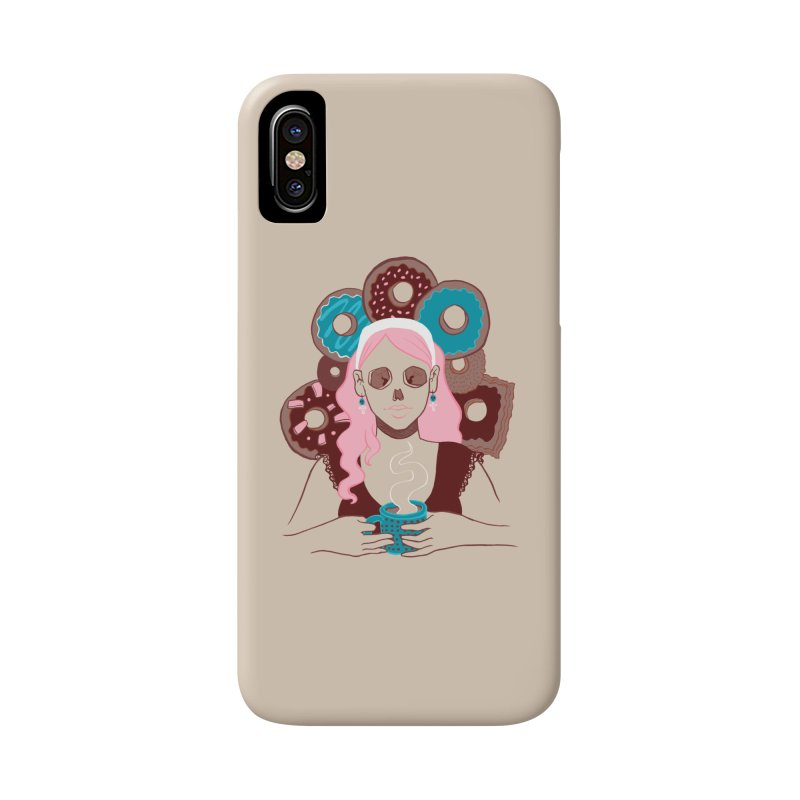 Death 'n' Donuts Color Accessories Phone Case by Love for Ink Artist Shop