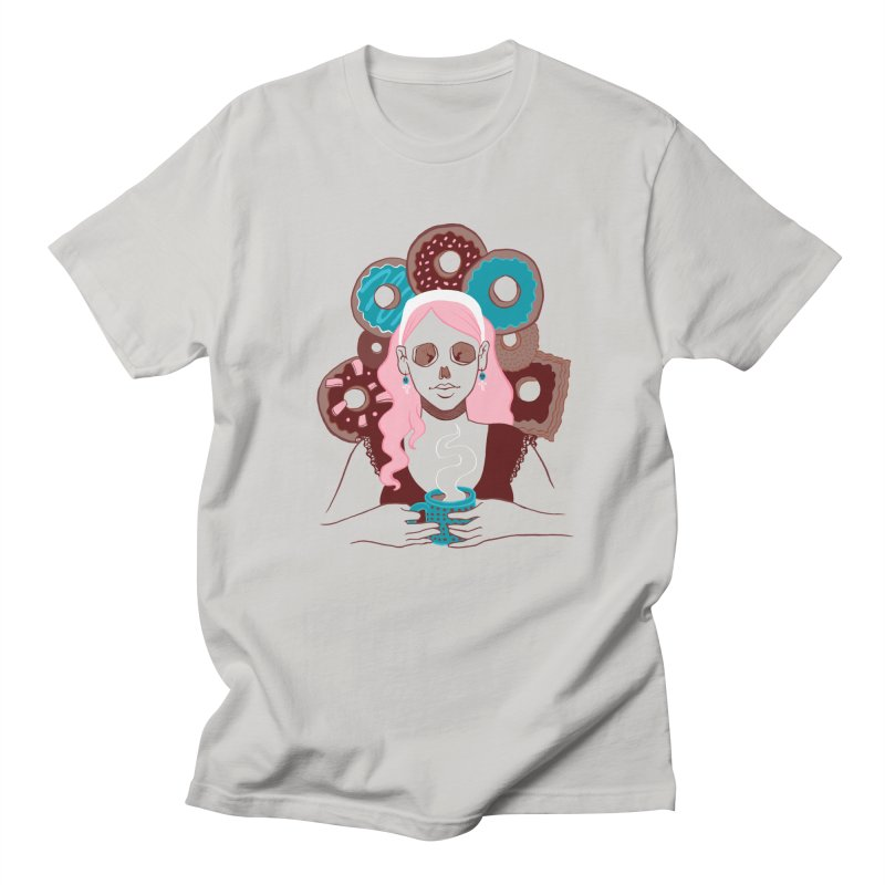Death 'n' Donuts Color Men's T-Shirt by Melisa Des Rosiers Artist Shop