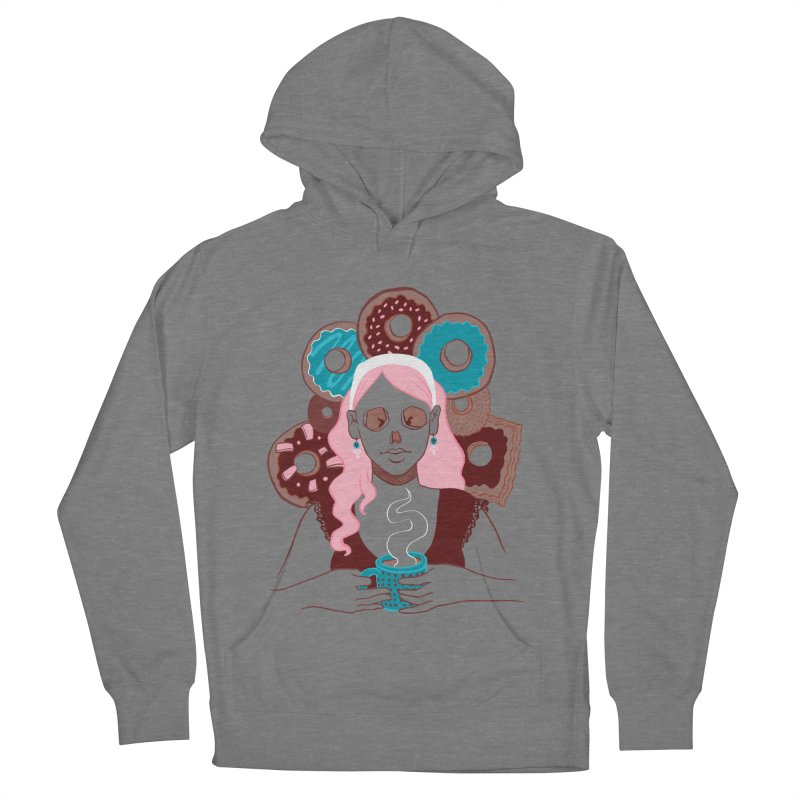 Death 'n' Donuts Color Women's French Terry Pullover Hoody by Melisa Des Rosiers Artist Shop
