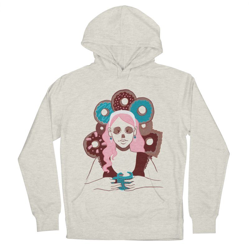 Death 'n' Donuts Color Men's French Terry Pullover Hoody by Melisa Des Rosiers Artist Shop
