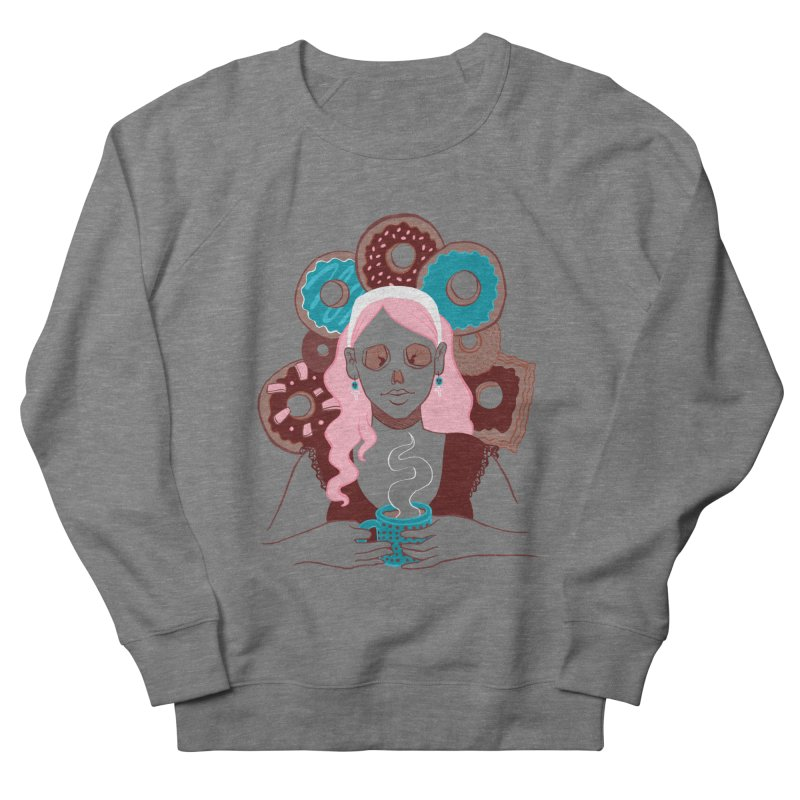 Death 'n' Donuts Color Women's French Terry Sweatshirt by Melisa Des Rosiers Artist Shop