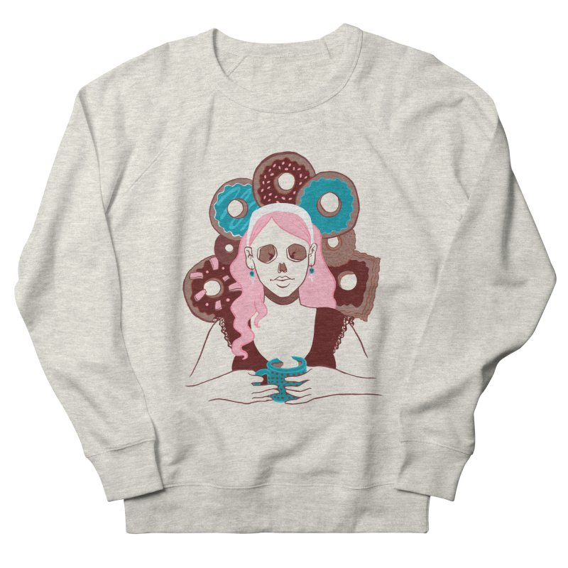 Death 'n' Donuts Color Men's French Terry Sweatshirt by Melisa Des Rosiers Artist Shop