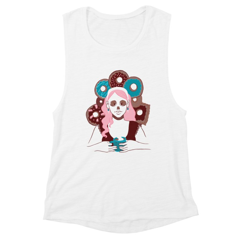 Death 'n' Donuts Color Women's Muscle Tank by Melisa Des Rosiers Artist Shop