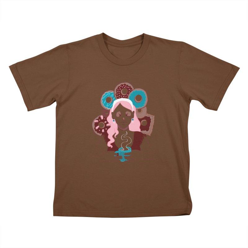 Death 'n' Donuts Color Kids T-Shirt by Melisa Des Rosiers Artist Shop
