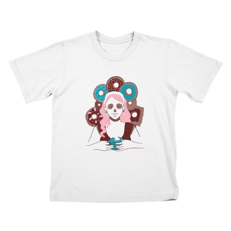 Death 'n' Donuts Color Kids T-Shirt by Melisa Des Rosiers Artist Shop