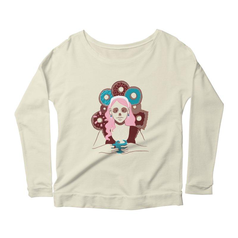 Death 'n' Donuts Color Women's Scoop Neck Longsleeve T-Shirt by Melisa Des Rosiers Artist Shop