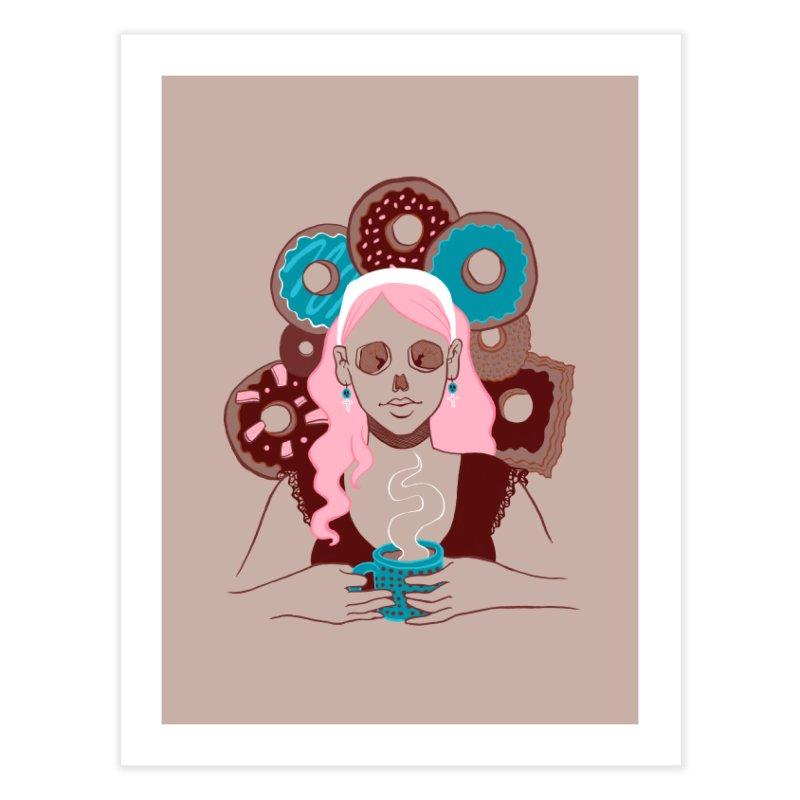 Death 'n' Donuts Color Home Fine Art Print by Melisa Des Rosiers Artist Shop