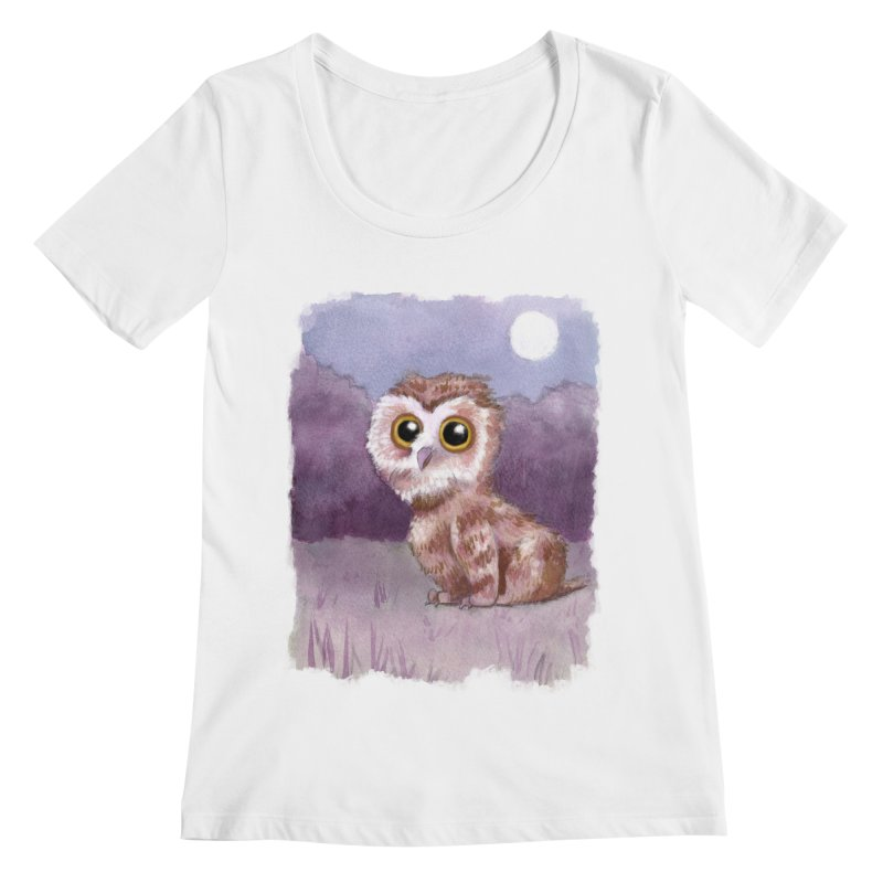 Owlbear Baby Women's Regular Scoop Neck by Melisa Des Rosiers Artist Shop
