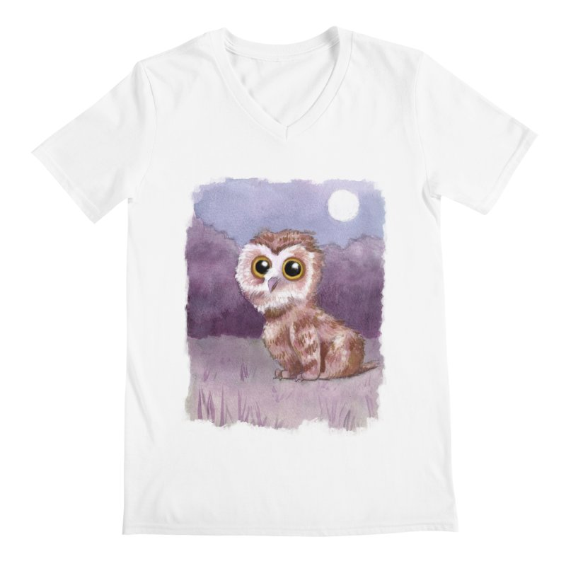 Owlbear Baby Men's Regular V-Neck by Melisa Des Rosiers Artist Shop