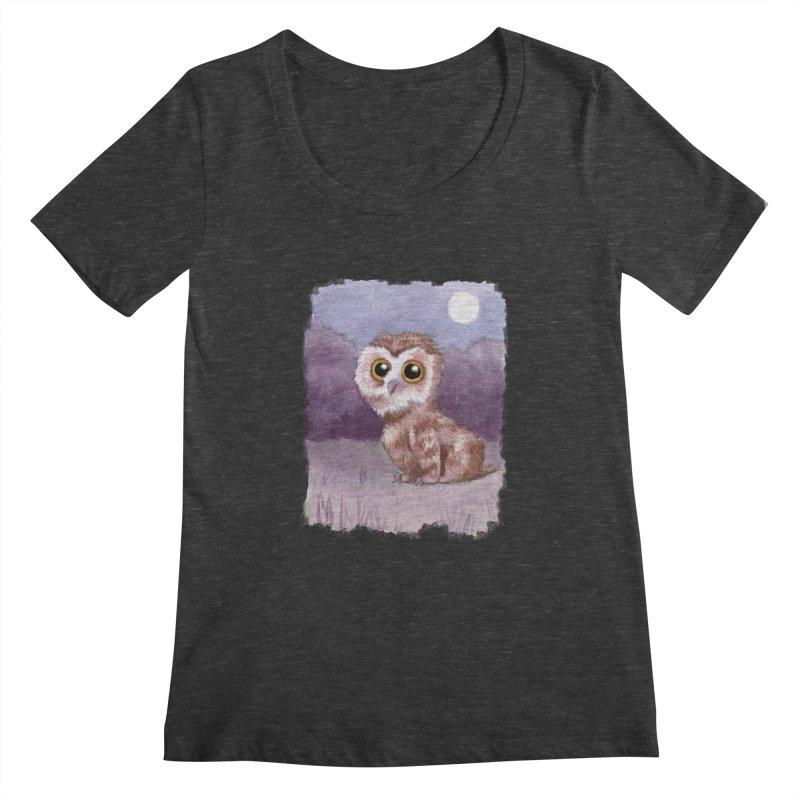 Owlbear Baby Women's Scoopneck by Love for Ink Artist Shop
