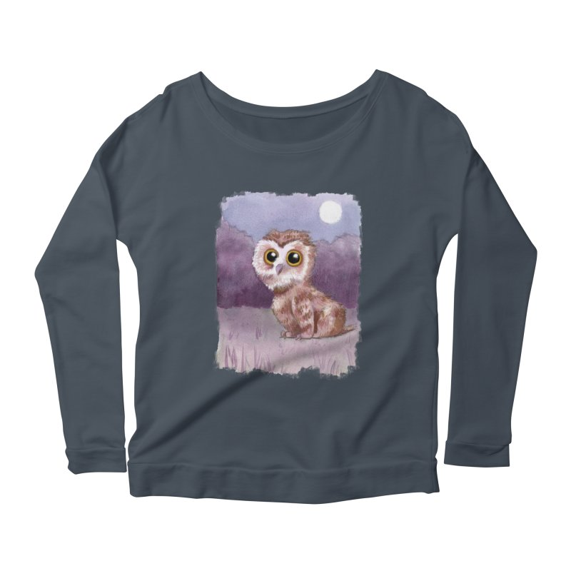 Owlbear Baby Women's Longsleeve Scoopneck  by Love for Ink Artist Shop