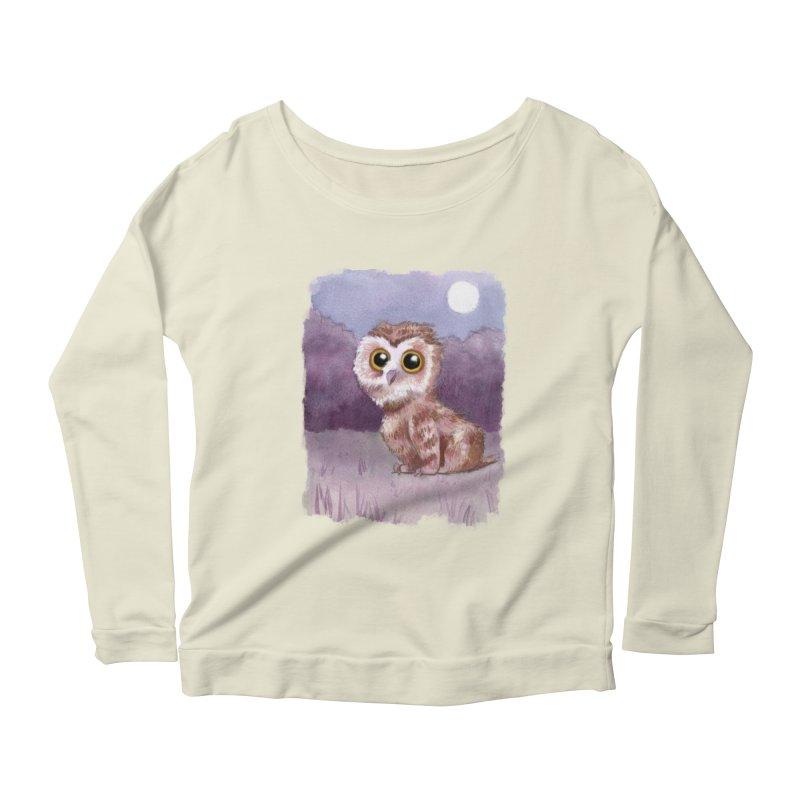 Owlbear Baby Women's Longsleeve Scoopneck  by Love for Ink Artist Shop