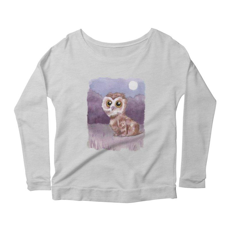 Owlbear Baby Women's Scoop Neck Longsleeve T-Shirt by Melisa Des Rosiers Artist Shop