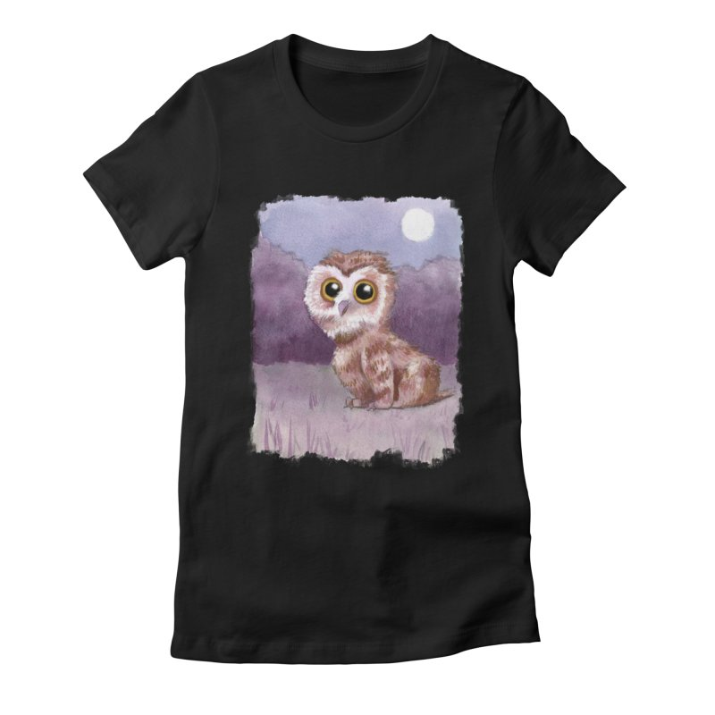 Owlbear Baby Women's Fitted T-Shirt by Melisa Des Rosiers Artist Shop