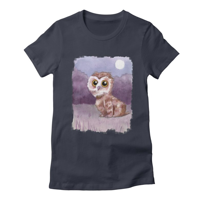 Owlbear Baby Women's Fitted T-Shirt by Love for Ink Artist Shop